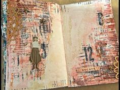 Escape- art journal page, step-by-step mixed media project - YouTube