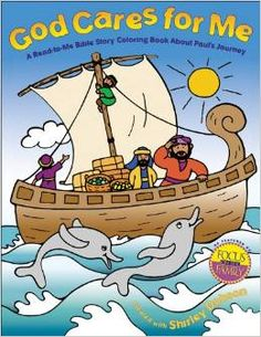 God Cares for Me—A Read-to-Me Bible Story Coloring Book introduces children to the story of Paul's shipwreck on his way to Rome (found in Acts 27). Told in simple rhyming verses that children will love, this story will help young ones understand how much God cares for them and is with them in times of need. When we know how much God cares for us, we don't need to be afraid. Amazon