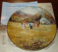 "Gorham Plate series""Gather the children' I loved painting this one.I used children in my church.B"