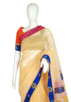 Designer Blockprinted Saree – Desically Ethnic