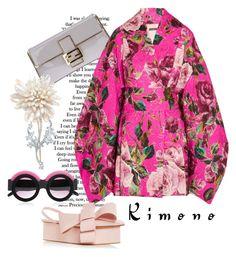 """Kimono Cool"" by harperleo ❤ liked on Polyvore featuring Fendi, Dolce&Gabbana, Delpozo and kimonos"