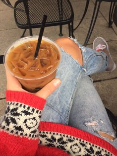 Iced Americano in a cold day. #JustMe