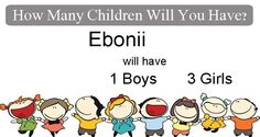 Check my results of How Many Children Will You Have? Facebook Fun App by clicking Visit Site button