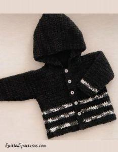 Crochet baby hoodie free pattern