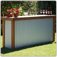 Creative Patio / Outdoor Bar Ideas You Must Try at Your Backyard - My Kitchen - Outdoor Kitchen Bar Patio, Backyard Bar, Backyard Kitchen, Backyard Ideas, Gazebo Ideas, Patio Ideas, Bar Portable, Portable Outdoor Bar, Outdoor Bars