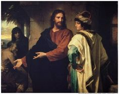 """""""Christ and the Rich Young Ruler"""" by Heinrich Hofmann. (Courtesy of C. Harrison Conroy Co. Inc.)"""