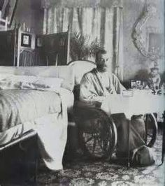 Tsar Nicholas ll of Russia in 1900 while recovering from a bout of typhus.This episode almost cost the life of the Tsar.A♥W