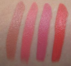 Make Up For Ever Artist Rouge Crème Lipsticks, Neutral Shade Swatches Lipstick Tube, Lipstick Swatches, Lipsticks, Neutral Makeup, Love Makeup, Orange Makeup, Hair Again, Body Powder, Love Your Hair