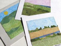 Summer Landscape Quilted Cards