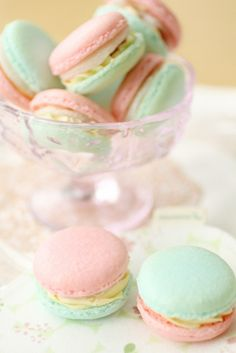 cherry and vanilla macarons