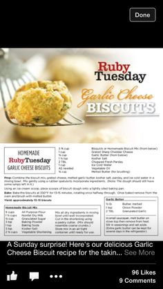 Ruby Tuesday Biscuits