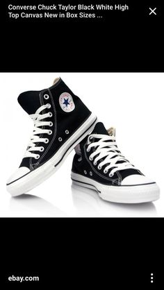 Black and white converse Mens Converse High Tops, Black Hi Top Converse,  Converse Chuck ebb1eae52ae