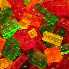 Lego brick shaped gummy candies | How to make a Lego mold and gummy candy