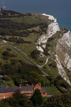 The White Cliffs of Dover, Kent taken from Dover Castle, UK