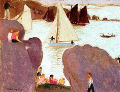Maurice Denis (1870 - 1943) Day of Racing at Ploumanach - 1939