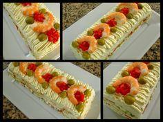 Hoy cocinamos .....: Pastel vegetal con gambitas y atún