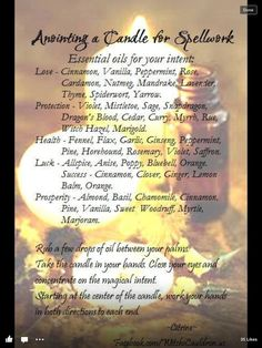 •°• Magick H o l l o w •°• Annointing oils for candles.