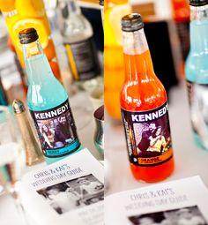 DIY soda labels..over at it's a bride's life