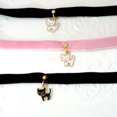 www.sanrense.com - Harajuku kawaii cat necklace