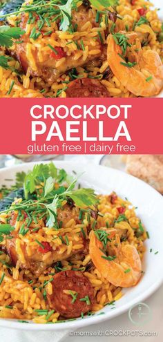No Spanish restaurant needed. Make this yummy Crockpot Paella today and enjoy the rich flavors of the Mediterranean right in your own kitchen!
