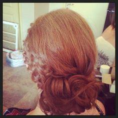 Updo, On location Wedding Hair, Braided Updo, Messy Bun, Bridesmaid Hair, Hair…