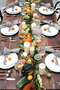 The perfect Thanksgiving table set up with Midnight Confetti.