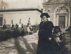 Gertrude Stein in the Luxembourg Gardens, Paris. 1905 or 1906.