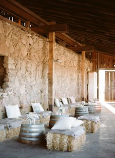 #rustic, #cocktail-hour, #hay  Photography: Sylvie Gil Photography - sylviegilphotography.com  Read More: http://www.stylemepretty.com/2013/10/31/santa-margarita-ranch-wedding-from-sylvie-gil-touch-of-style/