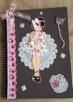 Caderno Personalizado Menina Alegre
