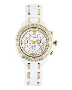 Versace Women's Ceramic Diamond Watch