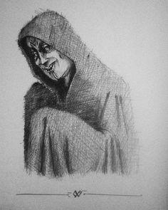 - V monk - late Night #sketch  #art #drawing #illustration #creepystuff