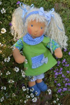 ♥  Amelie  ♥ 38cm Stoffpuppe - süßer  ♥-ling von Hermis Puppenstube  - ♥ -  Puppenmachen ist Herzenssache - ♥ - Stoffpuppen zum Liebhaben gemacht ! auf DaWanda.com