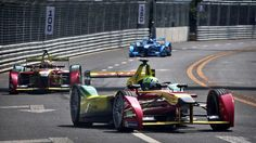 "••FORMULA E RACING•• all-electric car... debuted 2014-09-13 in Beijing! - historic 1st ever E winner: Lucas Di Grassi • but is FE not a contradiction to ""manly"" roaring noisy gasoline racing as w/ bull fight replaced by gazelle fight or bicycle vs motorcycle? Apparently it was as impressive as Formula 1. • run by same gov. body: FIA (Fédération Internationale de l'Automobile) (hm, also french name, as in FIFA – at least the French or 1 non-American cornered the market too for a change ; )"