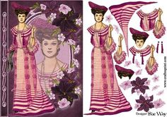 Edwardian Dinner Gown Fashion Reflections Decoupage