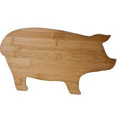 // bamboo pig cutting board