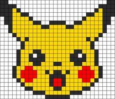 pikachu pixel art - Google Search