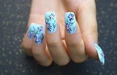 Uñas decoradas fácil, uñas decoradas facilmente.   #manicuracolores #nailartcolor #uñasconcolores