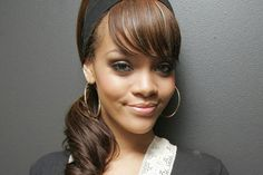25+ Black Girl Ponytail Hairstyles with Bangs