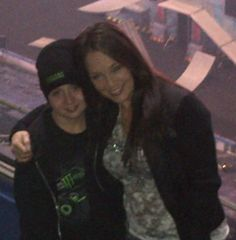 Reanee Wilkinson and my baby, even if he is as tall as me