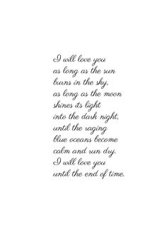 Valentines Day Gift - Romantic Love Poem Print by Christy Ann Martine Boyfriend Anniversary Gift Until The End of Time Poem Print Love Quotes For Him Cute, Love Quotes For Him Boyfriend, Soulmate Love Quotes, Diy Gifts For Boyfriend, Best Quotes, Love Poem For Her, Cute Love Poems, Cute Messages For Boyfriend, Love You Poems