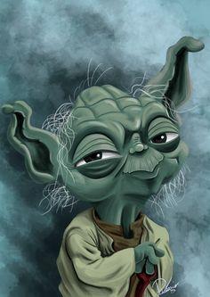 Yoda from #starwars - caricature by Ribosio