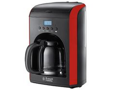 Buy Russell Hobbs Coffee Machines in Cyprus With a stylish bold black and red design, this coffee maker features a programmable timer so you can set your time and wake 12 Hour Clock, Home Coffee Machines, Russell Hobbs, Coffee Tables For Sale, How To Order Coffee, Cafetiere, Cool Things To Buy, Stuff To Buy, Best Coffee