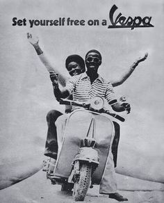 Around The World - Vespa Advertising – Voices of East Anglia Moto Vespa, Piaggio Vespa, Vespa Lambretta, Vespa Scooters, Old Advertisements, Ads, Clever Advertising, Italian Posters, People Having Fun