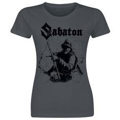 """Maglietta donna a maniche corte grigia """"Chose Not To Surrender"""" dei #Sabaton."""