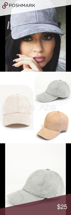 New CASUAL FAUX SUEDE BASEBALL CAP New CASUAL FAUX SUEDE BASEBALL CAP100% POLYESTERSNAP BACK- ADJUSTABLE. Beige or light gray. Accessories Hats