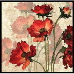 Found it at Wayfair - Bright Flower 2 Piece Framed Graphic Art Set