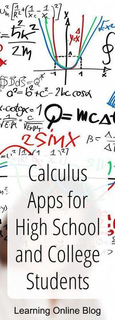 These calculus apps can help teens and adults learn difficult math concepts college Calculus Apps for High School and College Students Online Math Courses, Learn Math Online, Homeschool High School, Homeschool Math, Homeschooling, Math Help, Fun Math, Math 2, Real Life Math
