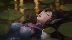 Download D. Va Art Overwatch Game Letrongdao 3840x2160