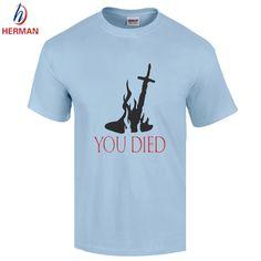 Great Cheap Promotion T Shirts Dark Souls Knight Oscar's Old Plus 7 Estus Flask T-shirts Casual  Men Cotton Shirts.GT172