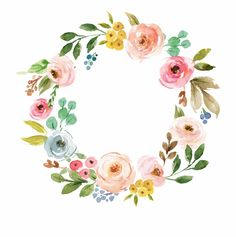 Discover an amazing range of Floral paper napkins on Zazzle. Wreath Watercolor, Watercolor Flowers, Watercolor Art, Kids Graphics, Calligraphy Drawing, Image Clipart, Flower Logo, Clip Art, Frame Wreath